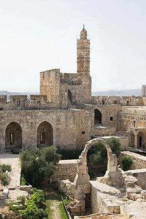 The tower of David in Jerusalem photo