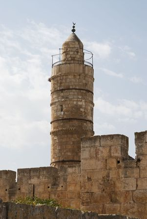 Close up of the Tower of David in Jerusalem photo