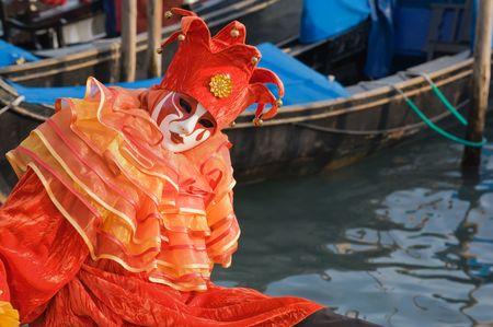 Clown von Venedig Lizenzfreie Bilder