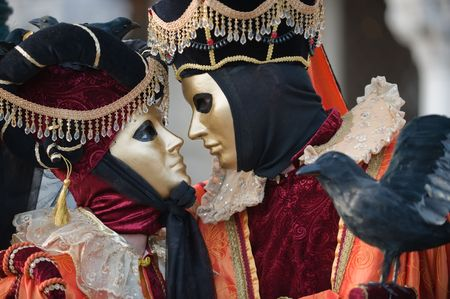 Romantische Karneval paar Lizenzfreie Bilder