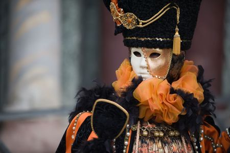 Portraits of people at the Carnival in Venice Italy. More images in my portfolio Stock Photo - 4432036