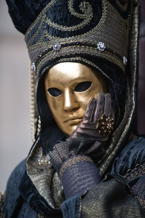 Portraits of people at the Carnival in Venice Italy. More images in my portfolio Stock Photo