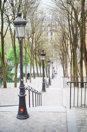 paris street: Montemartre in Paris