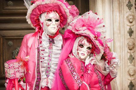 Carnival couple in Venice photo