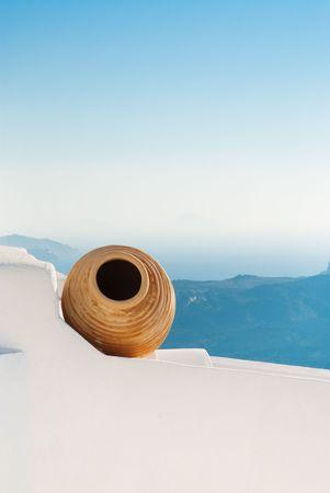 Beautiful decoration at the greek island Santorini photo