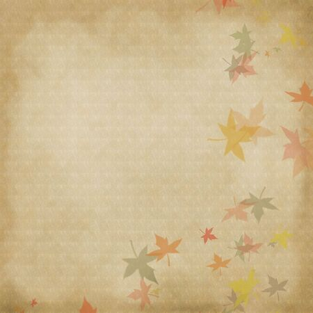 canvas on wall: Autumn leaves background