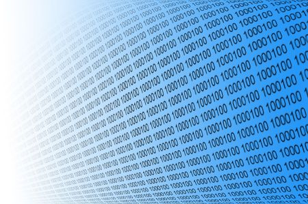 digital numbers: Binary code Stock Photo