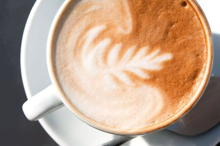 Fresh cup of cappuccino Stock Photo