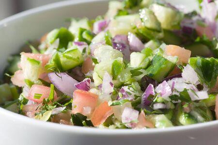 sallad: Israeli salad Stock Photo