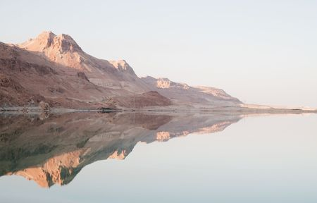 The Dead Sea and reflection of Judea mountains