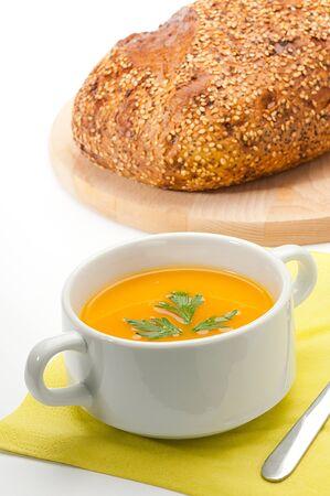 Pumpkin and sweet potatoe soup