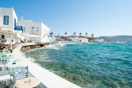 Mykonos town Stock Photo