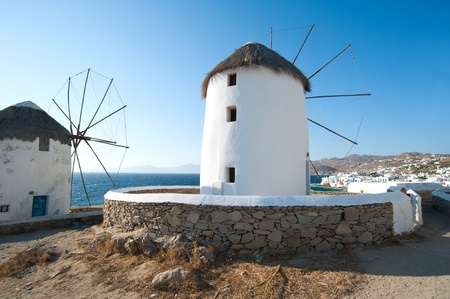Mykonos windmills Stock Photo