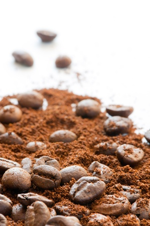 Coffeebeans and grain