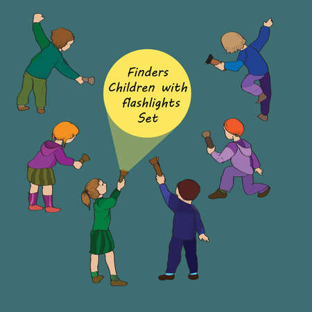 finders: Set of six different children- finders with flashlights
