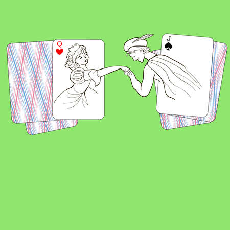 jack of hearts: rendezvous of Hearts ladies and jack of spades