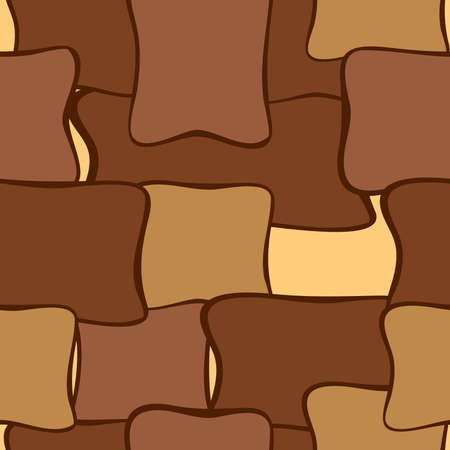 seamless bacground: Abstract geometric seamless pattern or bacground brown shades Illustration