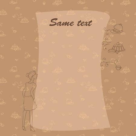 aspirational: Smell something tasty. Blank for menu, illustration