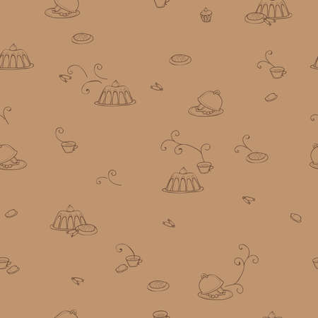 smells: Any kinds of delicious food seamless pattern
