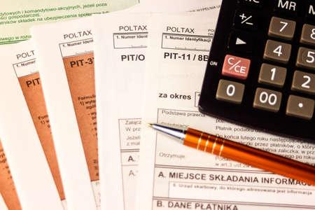 Polish tax forms, PIT-37, PIT-11, PIT-0