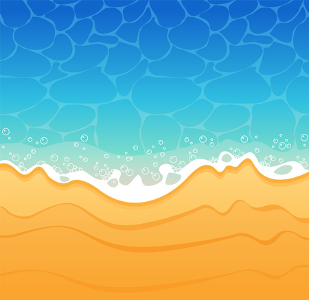 sand background: Beach sand and sea Background. Illustration