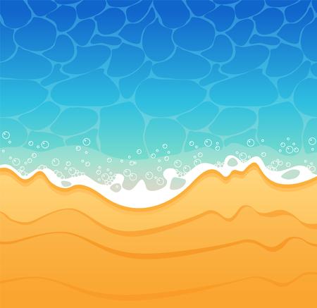 Beach sand and sea Background. Illustration