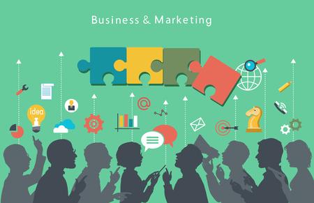 reuniones empresariales: Hombres de negocios agrupan más conceptual.