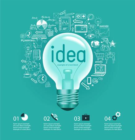 Business idea Doodle set