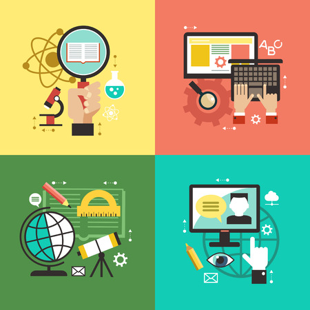 Flat vector concept education infographics.