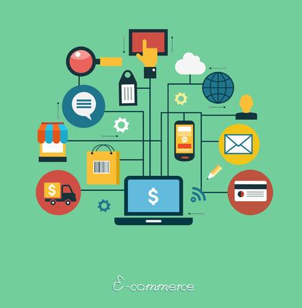 infographics background E-commerce. Business concept. Set icons