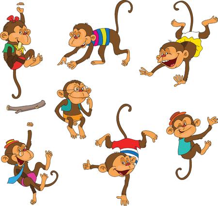 Funky Monkey kleding. Geïsoleerde objecten.