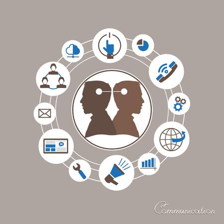 mapping: Mind Map Illustration. Communication mapping.