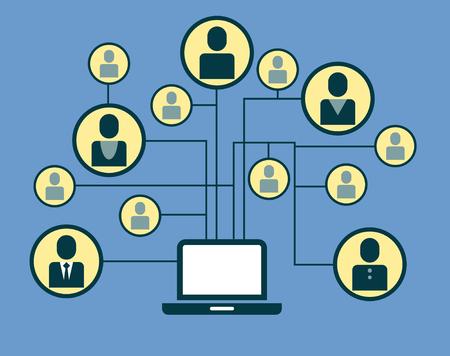 Social Media Circles, Netzwerk Illustration, Vektor, Symbol Standard-Bild - 59138569