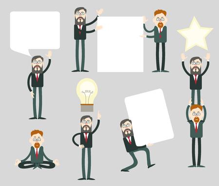 Businessmen with speech bubbles. Businessmen with speech bubbles. Illustration