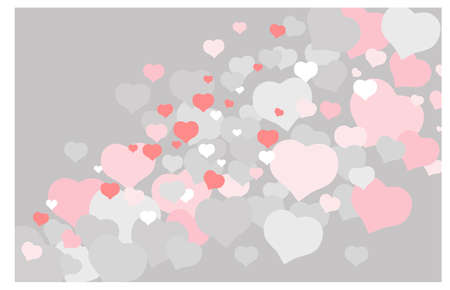 Delicate vector background with flying hearts. Valentine's Day holiday concept.