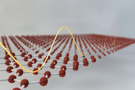 3D illustration of Graphene atomic structure Stock Photo