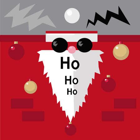 Babbo Natale con occhiali da sole Archivio Fotografico - 88394837