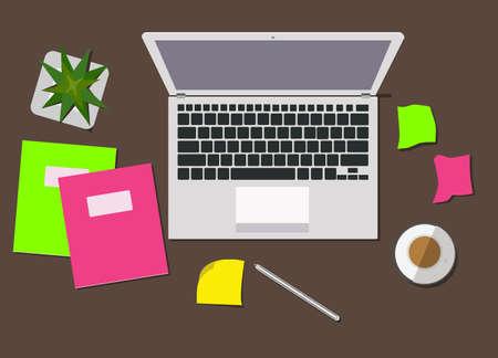 Laptop e forniture per ufficio. Archivio Fotografico - 89533032