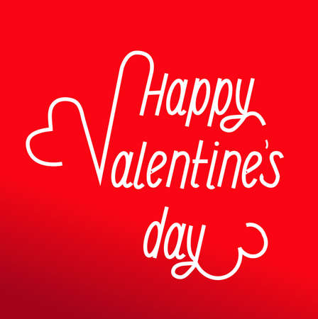 Inscription to the day of Valentines day