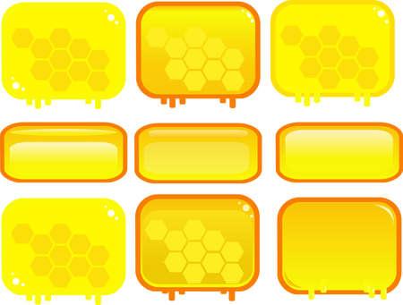 Honey game button vector illustration.