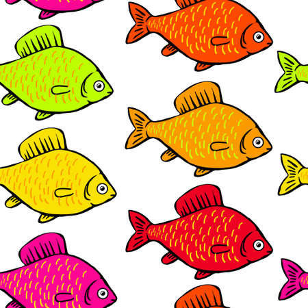 Pattern bright colored fish.