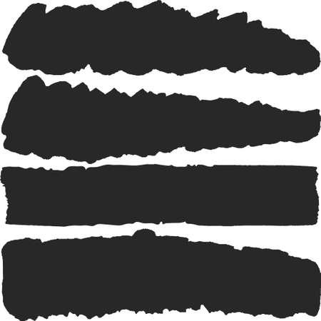 ink stain isolated on white background Çizim
