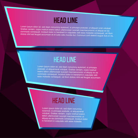 lilac polygon background for text Illustration