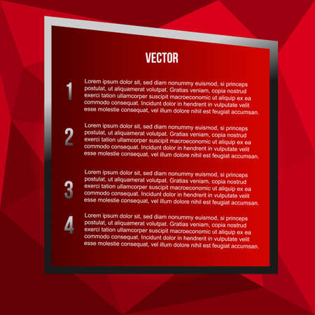 red polygon background for text Illustration