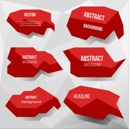 Red abstract base for text vector illustration.