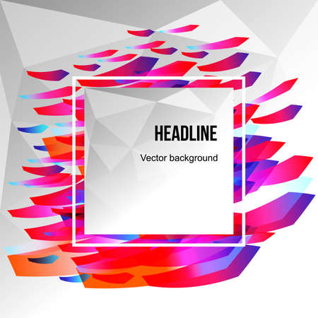 Colorful abstract background for text. Vector illustration.