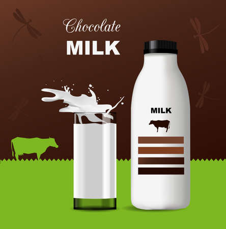 card chocolate milk with spots