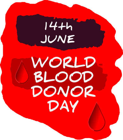 Postal grunge día mundial del donante de sangre