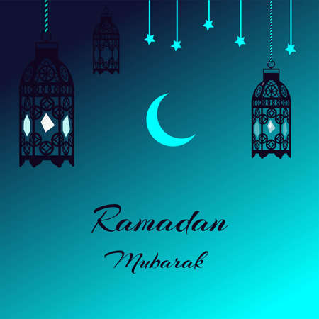 card with lantern for the Muslim holiday of Ramadan