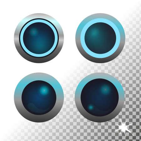 Set of circle buttons